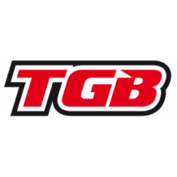 TGB Partnr: BH125PL01RDF1 | TGB description: LEG SHIELD, FRONT, RED, WHITE EMBLEM