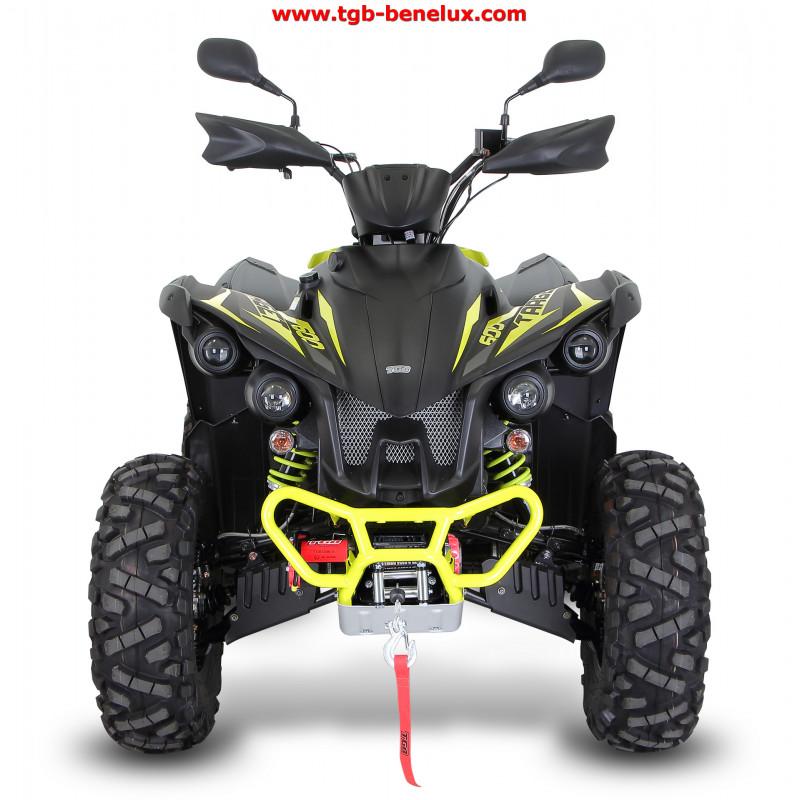 TGB ATV QUAD, model Target 600, Euro 4 norm,EPS, L7e homologatie, kleur mat zwart/geel