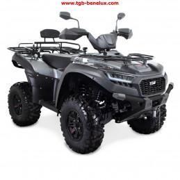 TGB ATV QUAD model Blade 600 SE EPS T3b couleur argent avec éclairage LED.