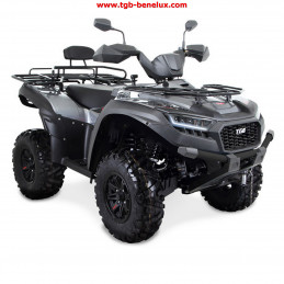 TGB ATV QUAD model Blade 600 SE EPS T3b silver color with LED lighting.