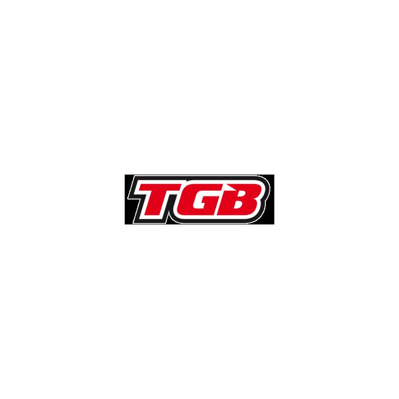 TGB Partnr: 515158A | TGB description: BUMPER, FRONT COMP. (STEEL) (SEMI-GLOSS BLACK)